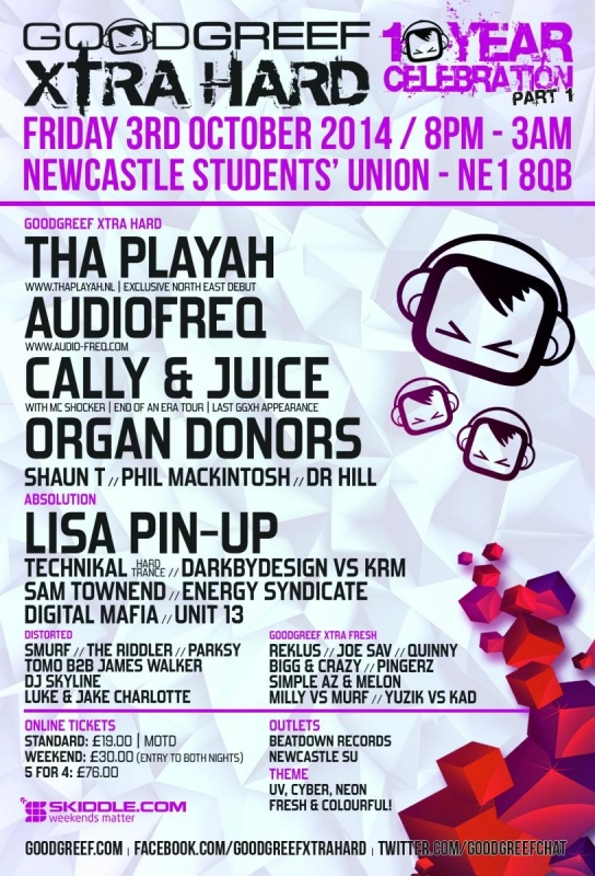 GGXH10BirthdayNewcastleunioct2014 - Back Flyer