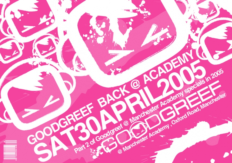 GG @ Academy April 05 Flyer front