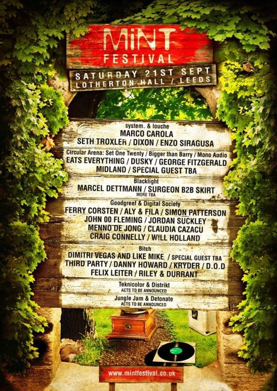 Mint FestivalLeeds2013 Full Line Up
