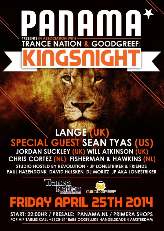 Poster a2 Panama Kingsnightapril2014Amsterdam